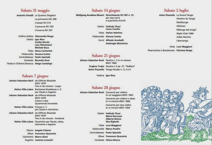 concerti estivi di musica da camera en plein air a milano