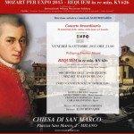 Mozart Requiem - 16 ottobre 2015 a Milano