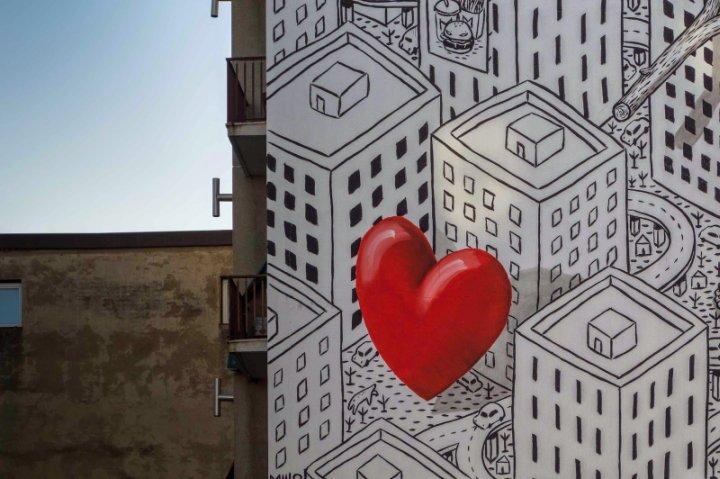 Love seeker, opera di Millo. Giardino delle Culture di Milano