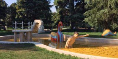 Cosa vedere a Milano: visita la Triennale. In foto: la Fontana dei Bagni Misteriosi di Giorgio De Chirico.