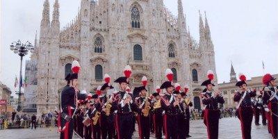 Fanfara del 3° Reggimento Carabinieri Lombardia - Piazza Duomo a Milano