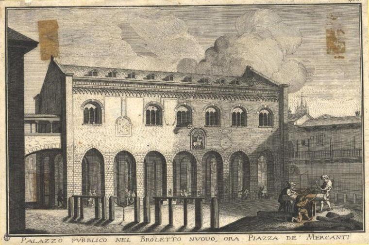 Palazzo del Broletto Nuovo, Milano. Curiosità a Milano: la pietra dei falliti e la scrofa semilanuta
