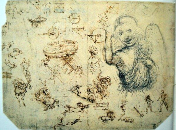 Leonardo da Vinci. Foglio di Windsor - Collezione della Regina