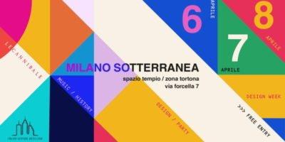 Milano Sotterranea: dal 6 all'8 aprile tre exhibition-party coniugano gli ultimi 70 anni del design con la musica elettronica più cool