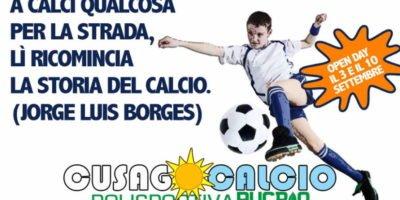 3 e 10 settembre: Open Day della Scuola Calcio Cusago per bambini e ragazzi dai 4 ai 14 anni
