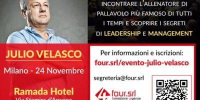 Eventi a Milano: venerdì 24 novembre incontro con Julio Velasco al Ramada Hotel