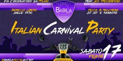 Babila Hostel & Bistrot Milano: Italian Carnival Party