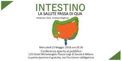 Mercoledì 23 maggio a Milano: conferenza Intestino La Salute passa di qua