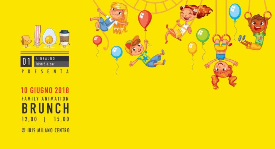 cosa fare coi bambini a milano domenica 10 giugno: Family Animation Brunch da LineaUno Bistrò