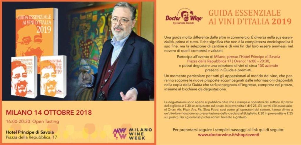 Domenica 14 ottobre: presentazione Guida Essenziale ai Vini d'Italia 2019