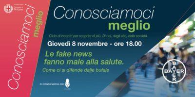 Giovedì 8 novembre a Milano: Bayer Conosciamoci Meglio - Le fake news fanno male alla salute