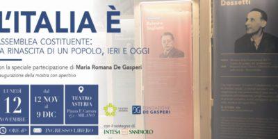 Mostre a Milano: il 12 novembre inaugurazione di L'Italia è al Teatro Asteria