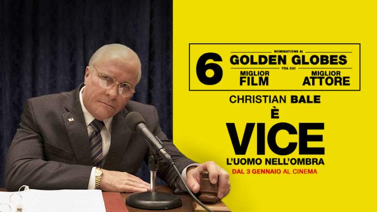 Christian Bale è Dick Cheney in Vice – L'Uomo nell'Ombra. Recensione del film in uscita al Cinema dal 3 gennaio.