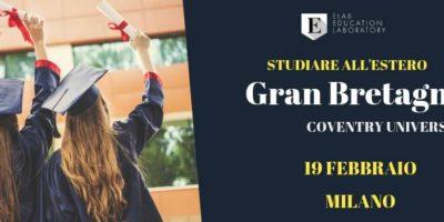 Vuoi studiare all'estero? A Milano il seminario Gran Bretagna & Coventry University (partecipazione gratuita)