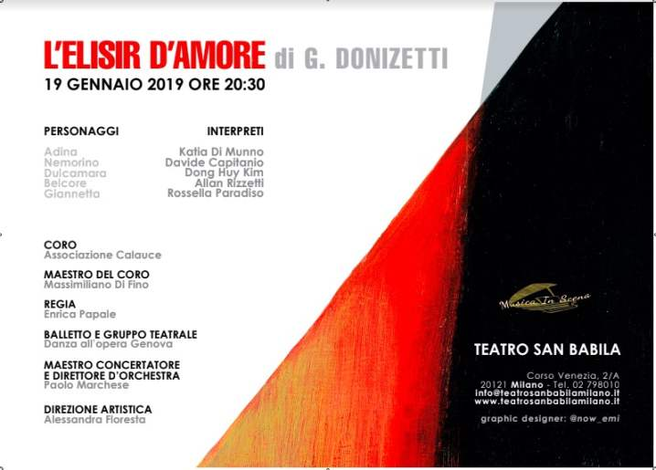 L'Elisir d'Amore Opera Lirica al Teatro San Babila di Milano