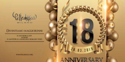 Festa di compleanno per i primi 18 anni del Pelledoca di Milano