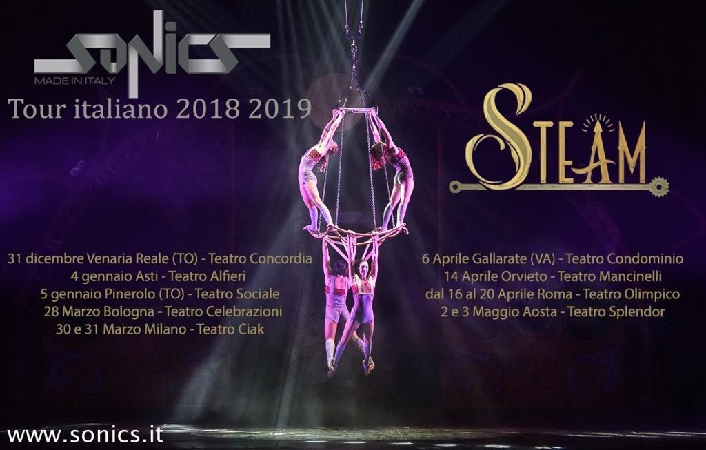Sabato 30 e domenica 31 marzo: Acrobati Sonics in Steam al Teatro LinearCiak di Milano