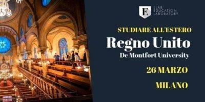 Come studiare in una università nel Regno Unito: De Montfort University a Milano
