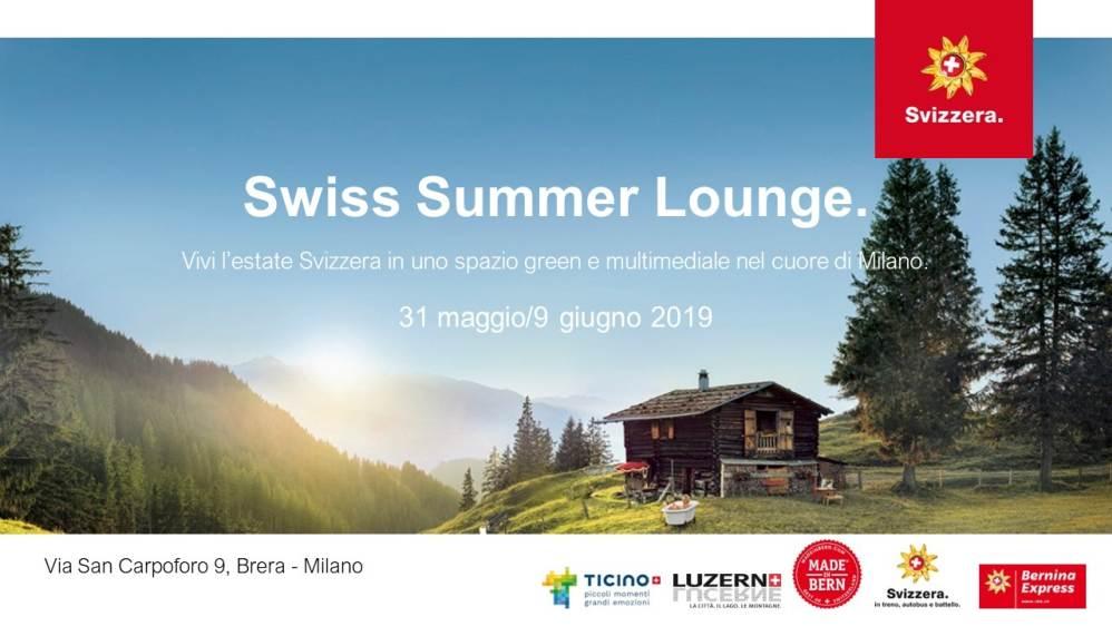 Swiss Summer Lounge: l'estate svizzera nel cuore di Milano