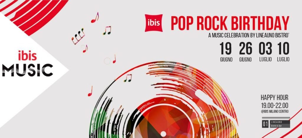 Pop Rock Birthday - A Music celebration by LineaUno Bistrò & Bar