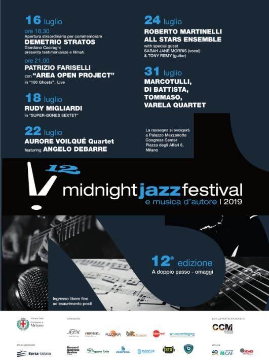 Midnight Jazz Festival 2019: concerti gratuiti a Milano