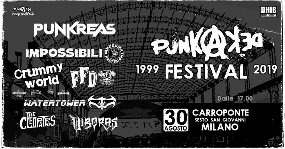 Cosa fare venerdì 30 agosto a Milano: Punkadeka Festival 1999-2019 al Carroponte