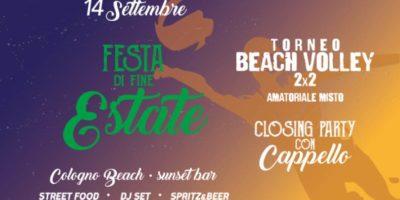 Festa di fine Estate al Cologno Beach: l'ultimo sunset party del 2019