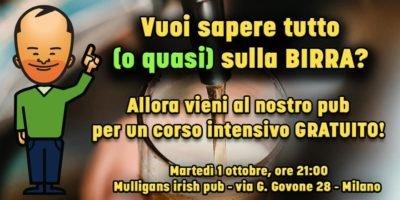 Giangibeer: a Milano il corso gratuito per capire tutto (o quasi) sulla birra