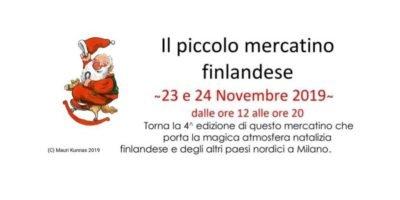 Si avvicina l'appuntamento con il Piccolo Mercatino di Natale dei finlandesi a Milano, in programma sabato 23 e domenica 24 novembre.
