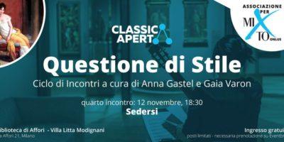 Martedì 12 novembre: a Milano il quarto incontro gratuito per Questione di stile, ciclo di incontri sulla musica e le arti applicate