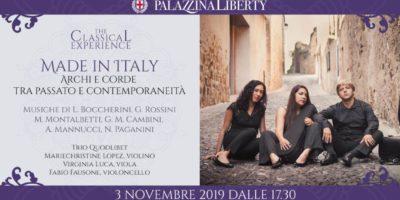 Domenica 3 novembre a Milano ritorna #TheClassicalExperience con il Trio Quodlibet in un concerto tra passato e contemporaneità.