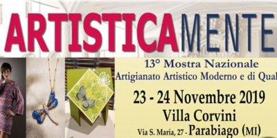 Artisticamente: sabato 23 e domenica 24 novembre a Villa Corvini la rassegna nazionale di artigianato artistico