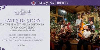 East Side Story: domenica 1 dicembre il Boz Trio in concerto a Milano