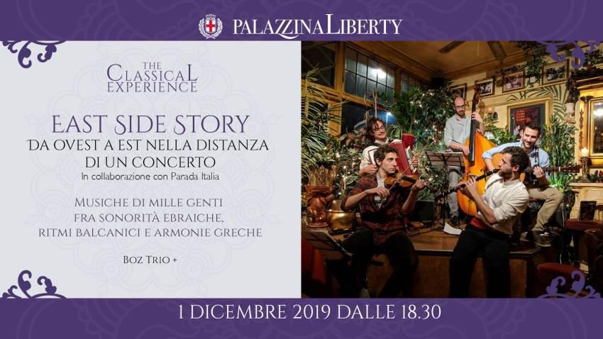 cosa fare domenica 1 dicembre a Milano: Boz Trio in concerto