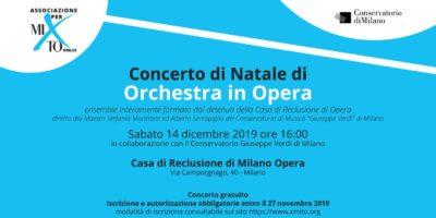 Sabato 14 dicembre: Concerto di Natale Orchestra in Opera