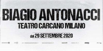 Biagio Antonacci live al Teatro Carcano di Milano. Date e costi biglietti