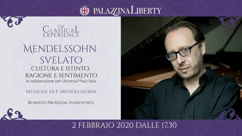 cosa fare a Milano domenica 2 febbraio: Mendelssohn svelato, Roberto Prosseda in concerto