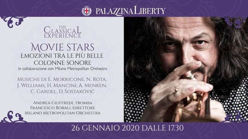 Movie Stars - domenica 26 gennaio a Milano emozioni tra le più belle colonne sonore
