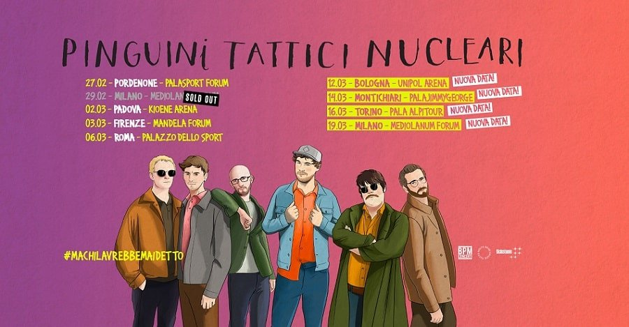 COVID-19, concerti sospesi a Milano: Pinguini Tattici Nucleari