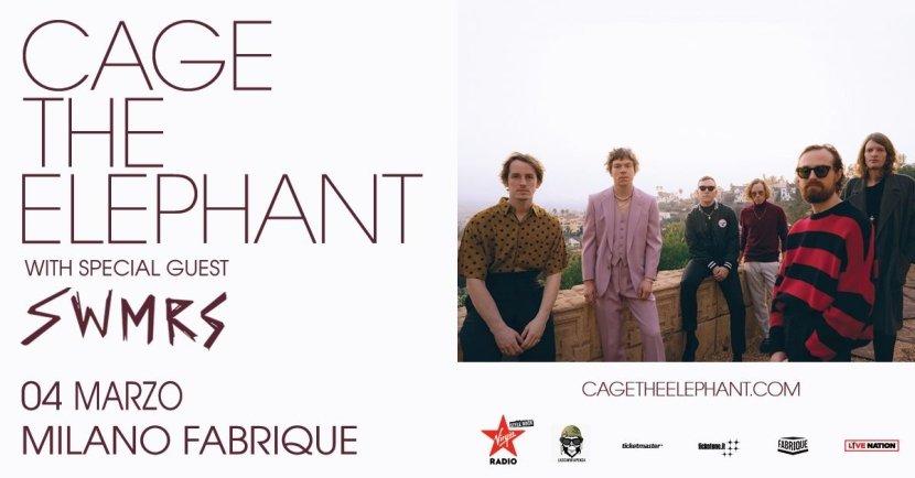 Concerti a Milano: il 4 marzo Cage The Elephant live al Fabrique