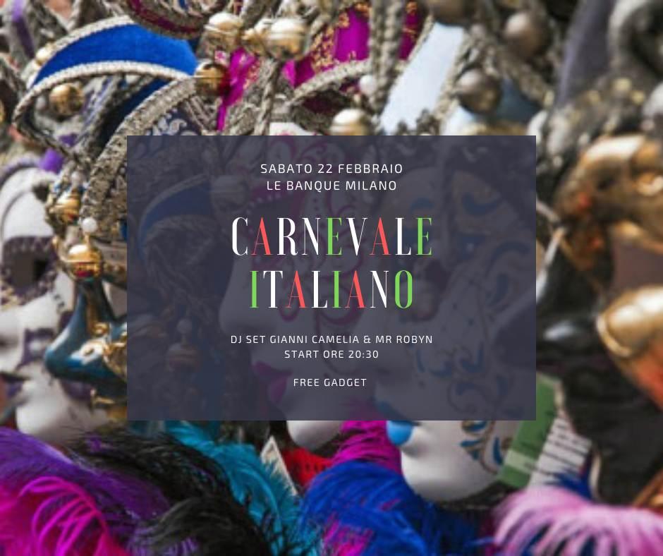 Carnevale Italiano - Special party a Milano