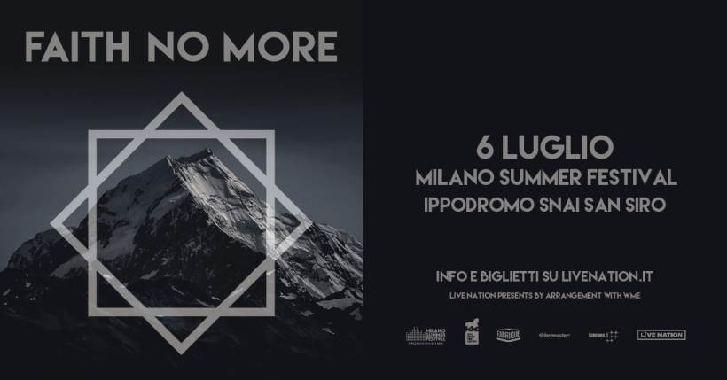 Faith No More in concerto al Milano Summer Festival (Ippodromo SNAI San Siro)