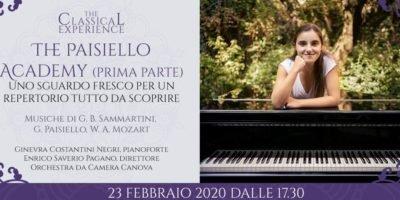 Domenica 23 febbraio a Milano: The Paisiello Academy - Parte prima