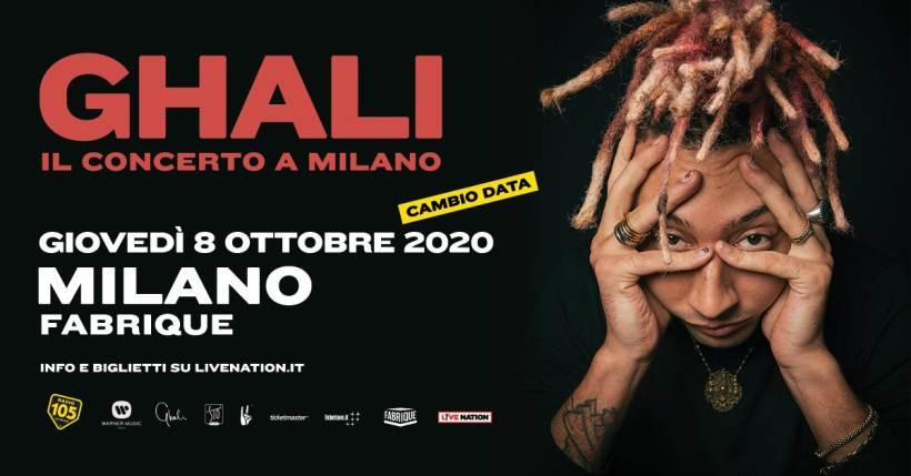 Coronavirus a Milano, concerti rinviati: nuove date per i live di Ghali al Fabrique