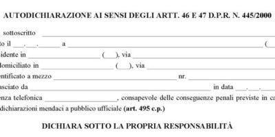 Nuovo modulo autocertificazione spostamenti Covid-19 (26 marzo)