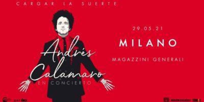 Concerti rinviati a Milano: Andrés Calamaro live ai Magazzini Generali