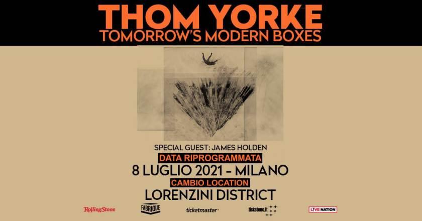 Thom Yorke in concerto al Lorenzini District di Milano