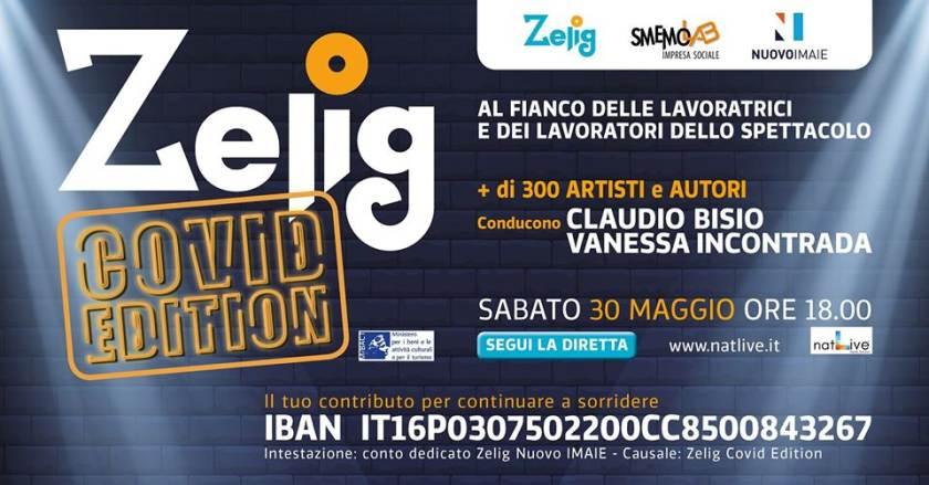 cosa fare a Milano sabato 30 maggio: Zelig Covid Edition