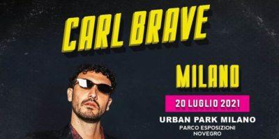 Carl Brave in concerto: rinviato al 2021 il live all'Urban Park Milano