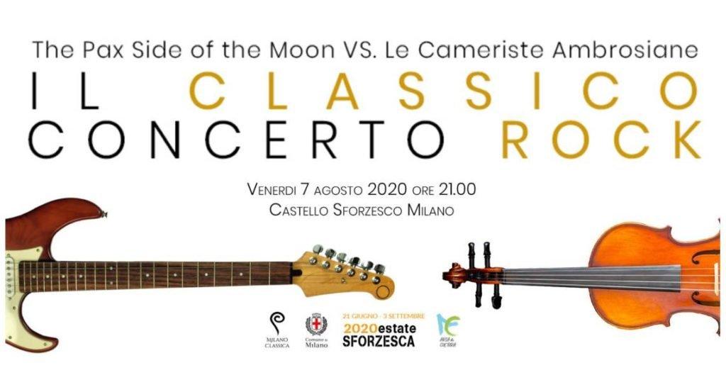 Venerdì 7 agosto a Milano Il classico concerto rock: The Pax Side of the Moon vs. Le Cameriste Ambrosiane